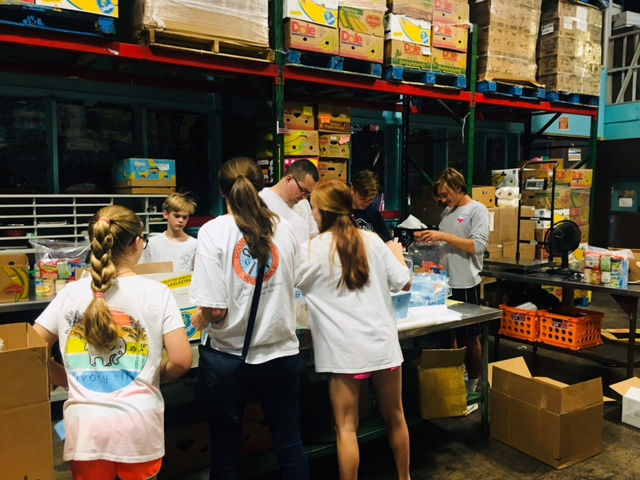 youth at food bank